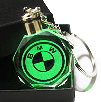 VILLSION Auto Mazda Key Chain Accessories LED Car Logo Keychain Gift with Box Color Changing Crystal Light