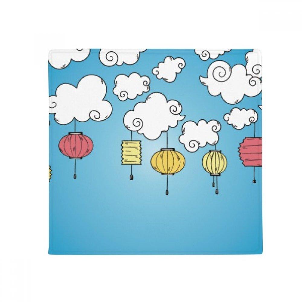 DIYthinker colorful Cartoon Cloud Lantern Pattern Anti-Slip Floor Pet Mat Square Home Kitchen Door 80Cm Gift