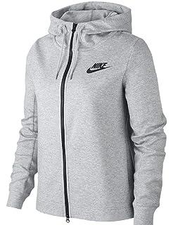 nike w nsw av15 hoodie fz sweat femme