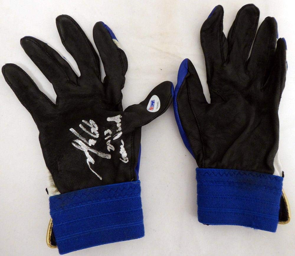 Munenori Kawasaki Autographed Game Used Batting Gloves Blue Jays U93461 PSA/DNA Certified MLB Game Used Gloves