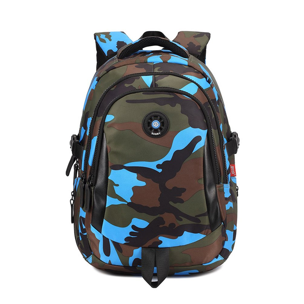 Camouflage Backpack, Large Capacity Water-Resistant Student Children School Bag