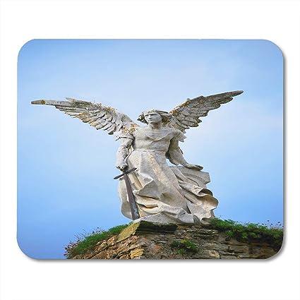 Alfombrillas para ratón, figura azul Escultura del ángel de la ...