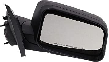 Kool Vue Mirror For 2008 Ford Edge SEL Left Puddle Light Textured Black