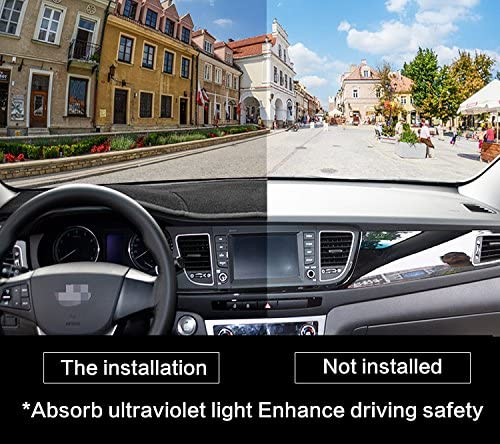SMABEE Car Carpet Cover Insulation Dash Covers for Toyota Tundra 2014-2018 Dashmat Black Car Dashboard