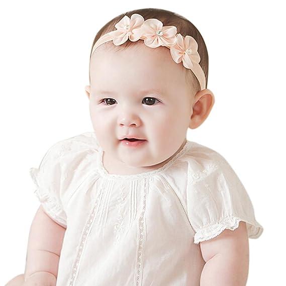 BBsmile diademas bebe niña diademas bebe recien nacidos Perla corona ...