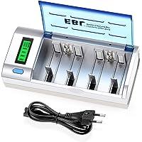 EBL 906 LCD Universele Batterijlader - voor AAA/AA/SC/C/D/9V/NiMH/NiCD oplaadbare batterijen, 6 oplaadkanalen…