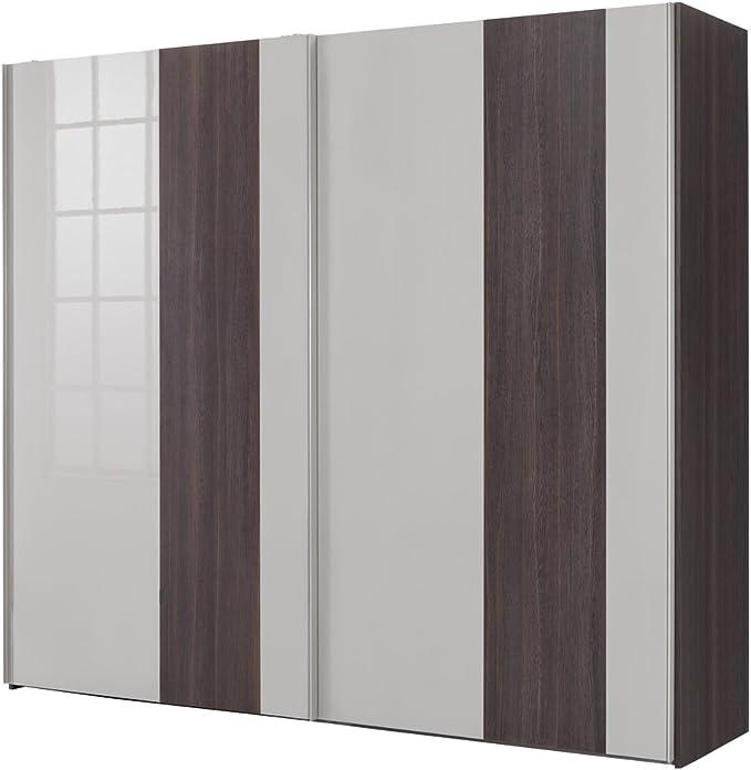 Composad Armario a 2 Puertas correderas Color Roble Nobile y Gris Lacado (250 x 220 cm): Amazon.es: Hogar