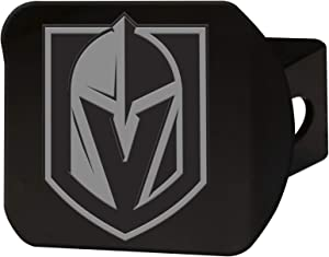 FANMATS NHL - Vegas Golden Knights Chrome on Black Metal Steel Hitch Cover