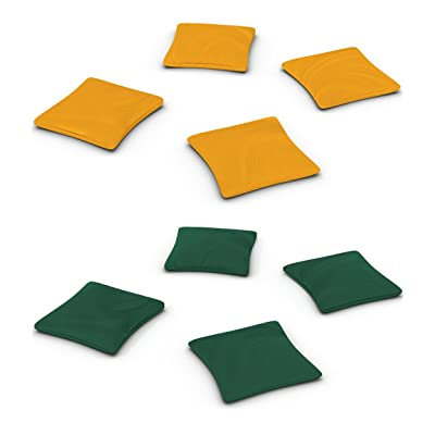 Belknap Hill Trading Post Duck Cloth Cornhole Beanbags, Set of 8 Bags in 2 Colors (Hunter Green & Yellow Gold): Sports & Outdoors