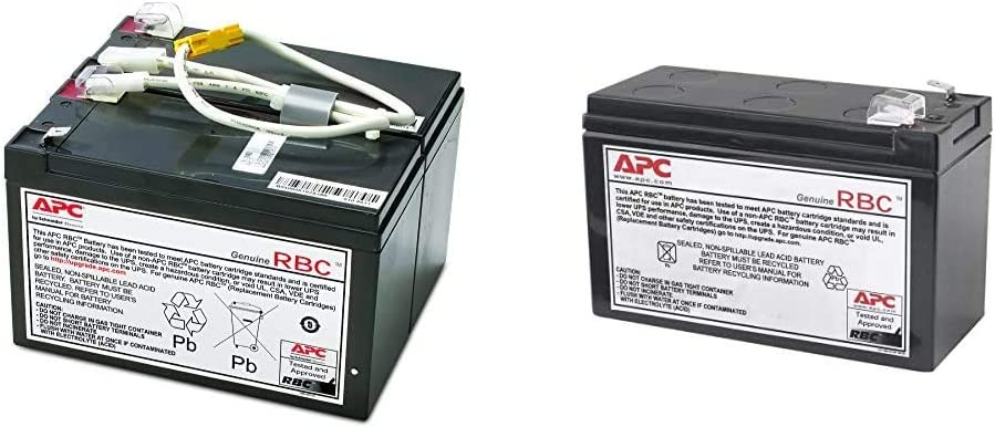 APC UPS Battery Replacement, APCRBC109, for APC UPS Models BR1500LCD and Select Others & UPS Battery Replacement for APC UPS Model BE550G, BN600MC, BR550GI, BX650CI and Select Others (RBC110)