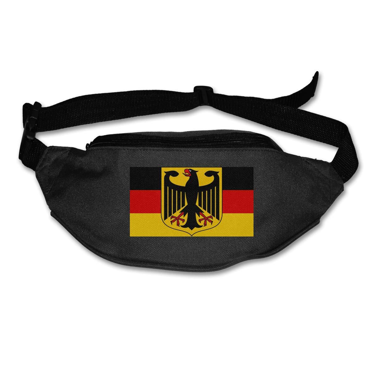 Deutschland Germany And Flag Sport Waist Bag Fanny Pack Adjustable For Run