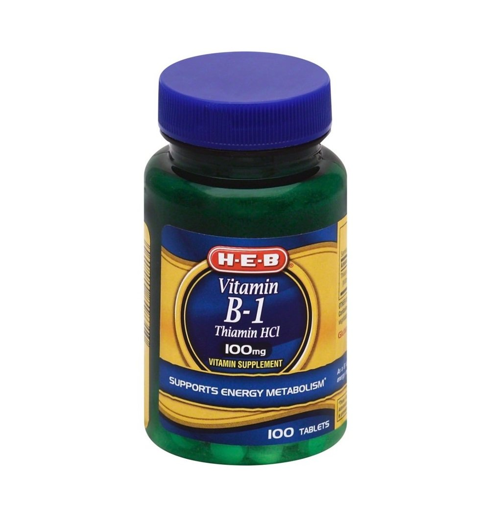 Vitamin B‑1 Thiamin HCl 100 mg Tablets 100 ct Vitamin Supplement Support Energy Metabolism H