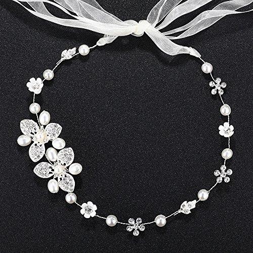 Rhinestone Crystal Wedding Headband Organza product image