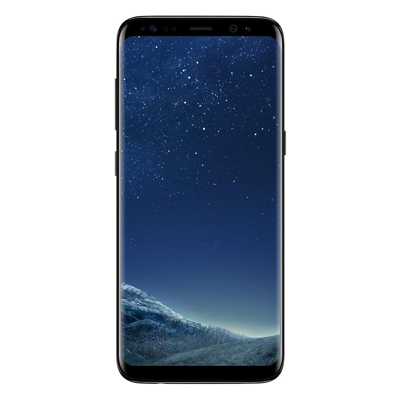 Samsung Galaxy S8 Plus 64GB - Verizon + GSM Factory Unlocked 4G LTE - Midnight Black (Renewed)