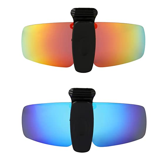 HKUCO Sunglasses Clip Blue Polarized Lenses Hat Visors Clip-on Sunglasses For Fishing/Biking/Hiking/Golf UV400 Protect Hb0UwSpoF