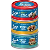 Loma Linda Tuno - Plant-Based - Variety Pack (5 oz.) (Pack of 3) - Non-GMO, Ocean Safe, Omega 3, Seafood Alternative