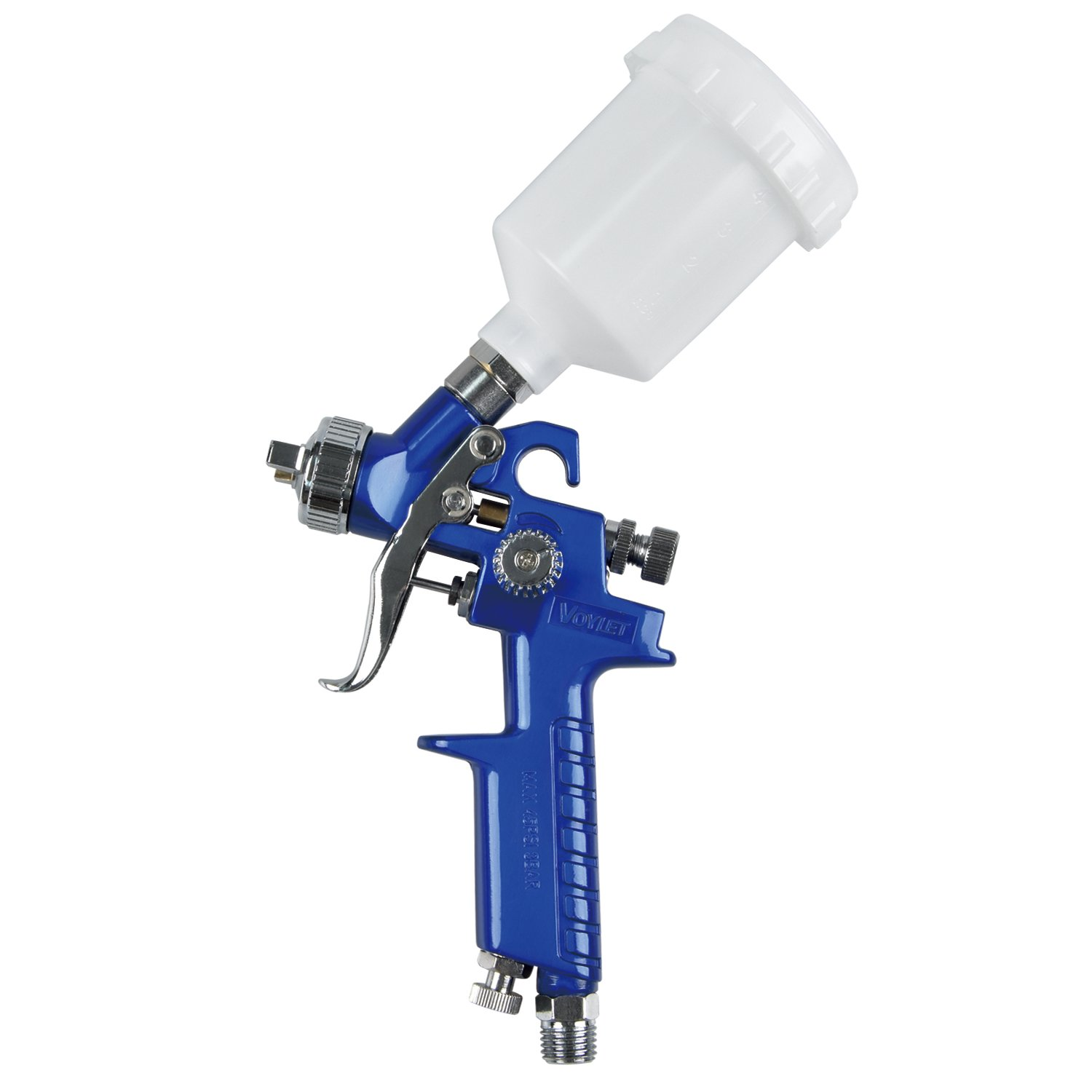 VOYLET HVLP Mini Gravity Feed Air Spray Gun - Pattern & Fluid Control Handheld Sprayer - Pneumatic Painter 1.0 mm Nozzle 4.2 oz POM Cup by VOYLET (Image #7)