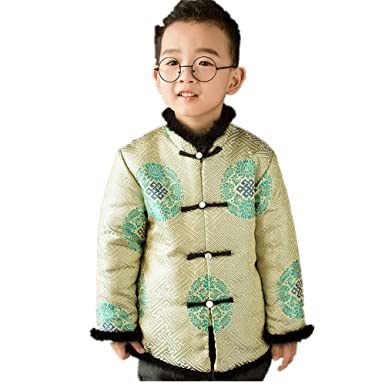 6885d0c2 Chinese New Year Children Coat Boy Overcoat Traditional Jacket Outfits  China Dress (S(4