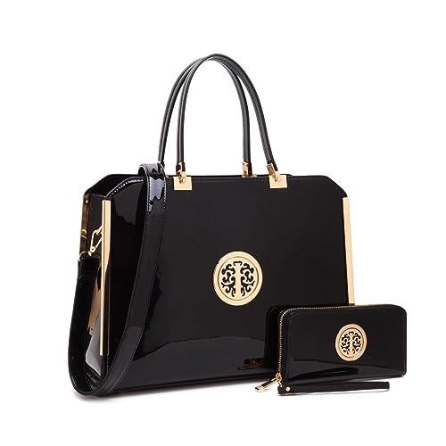 MMK collection Women Fashion Matching Satchel handbags with  wallet(6900)~Designer Purse ~ 99f55f79fe