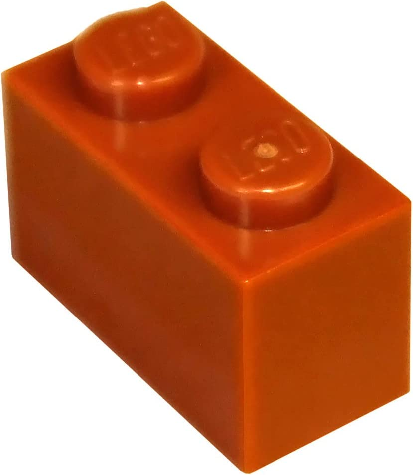 LEGO Parts and Pieces: Dark Orange 1x2 Brick x200