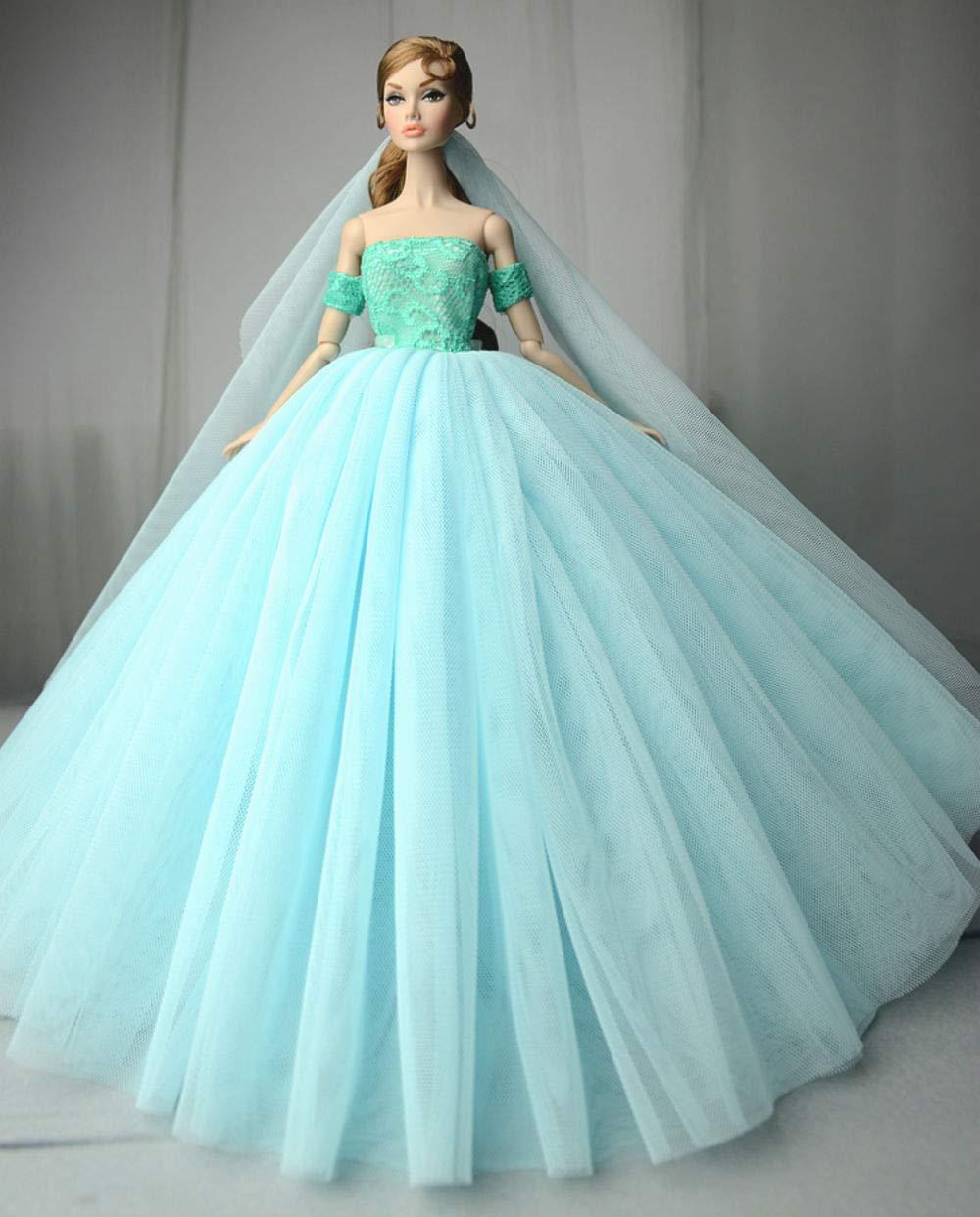 Stillshine UK-36B Mode Magnifique Robe de soir/ée /à la Main pour la poup/ée Barbie Robes 24 v/êtements //Robe de poup/ée
