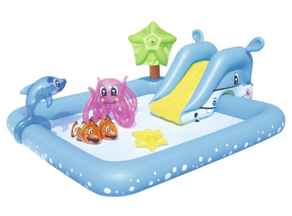WGE Piscina Exterior Multifuncional para Niños Piscina De Agua Infantil DE 94