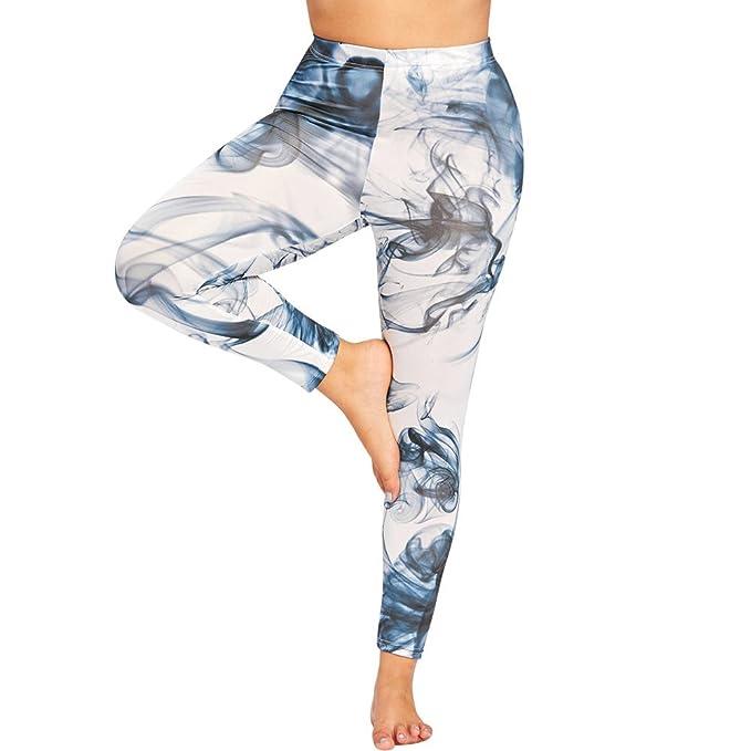 0c0f4047cfa Kulywon Yoga Leggings Women Sports Gym Yoga Workout Mid Waist Running Pants  Fitness Elastic Leggings Blue