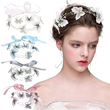 braided hair accessory 80/'s handmade pair Ribbon Barrettes Set girl