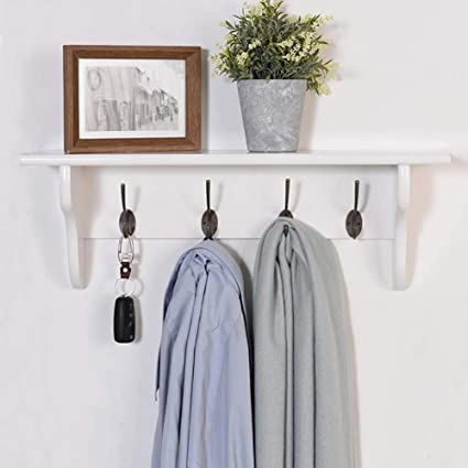 coat rack Montado En La Pared Perchero con Estante Tablero ...