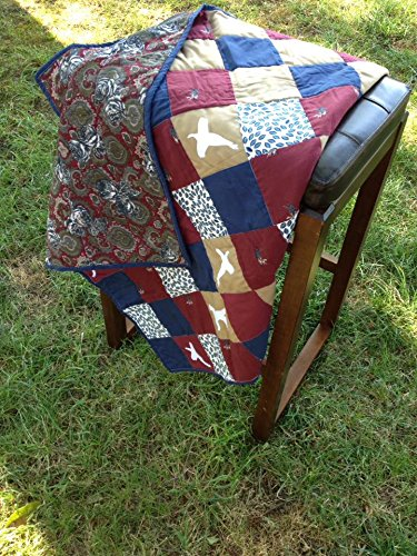 Amazon.com: Homemade Crib Size Hunting Themed Baby Boy Patchwork ... : hunting themed quilt patterns - Adamdwight.com