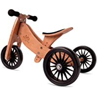 Kinderfeets TinyTot Plus 2-in-1 Wooden Balance Bike and Tricycle - Easily Convert From Bike to Trike   Sustainable and…