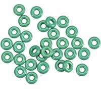 uxcell Fluorine Rubber O-Rings, 4.5mm OD 1.5mm ID 1.5mm Width FKM Seal Gasket for Vehicle Machinery Plumbing, Green…