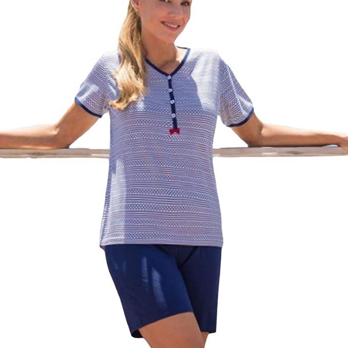 MARIE CLAIRE - Pijama Mujer Corto Mujer Color: Marino Talla: 42