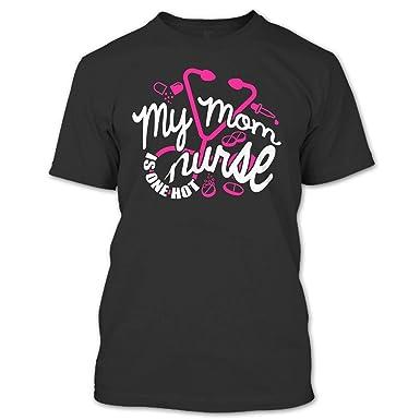 Amazon.com: My Mom is On Hot Nurse T Shirt, Coolest Nurse T ...