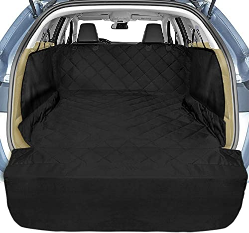 Veckle Cargo Liner, SUV Cargo Cover for Dogs with Side Flaps Hammock Waterproof Nonslip Dog Seat Cover Cargo Area Protector Scratchproof for SUVs Sedans Vans