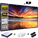 "RELEE 120"" 16:9 HD Foldable Anti-Crease Portable Projector Screen"