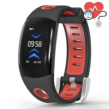 OOLIFENG IP68 Impermeable Pulsera Actividad Deporte Fitness Tracker Reloj, Con Pulsómetros Caloría Mostrador Para Android E Ios: Amazon.es: Deportes y aire ...