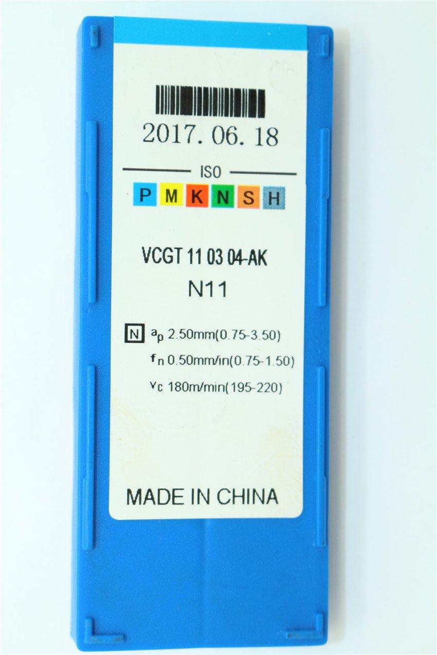 Inserto in carburo di tungsteno per alluminio 10P VCGT221-AK//VCGT110304-AK N11 CNC.