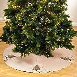 SARO LIFESTYLE 1025.GL53R Sapin De Noel Round Tree Skirt, 53'', Gold