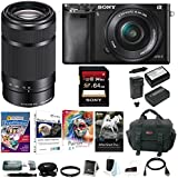Sony Alpha a6000 Mirrorless Camera w/16-50mm & E55-210mm Premium Bundle