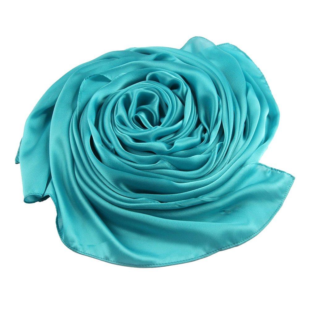 ACMEDE Echarpe Foulard Long Doux Elegant En Soie Coton Cou Wrap Chale Pour Femme Ete Hiver