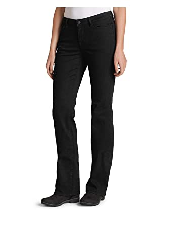 dd7c2d3da10 Eddie Bauer Women's StayShape Bootcut Black Jeans - Curvy, Black Regular 2  at Amazon Women's Jeans store