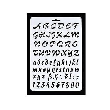 Joylivecy Buchstaben Schablone Buchstaben Alphabet Schablonen Craft