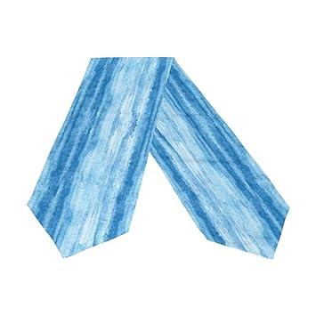Amazon.com: Camino de mesa de mármol azul ondulado de doble ...