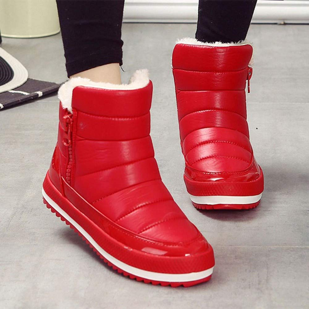 NAFTY Damenschuhe Stiefel Frauen Stiefel Weibliche Schneeschuhe Schneeschuhe Schneeschuhe Winterstiefel Frauen Flache Wasserdichte Ankle Schuhe b472a8