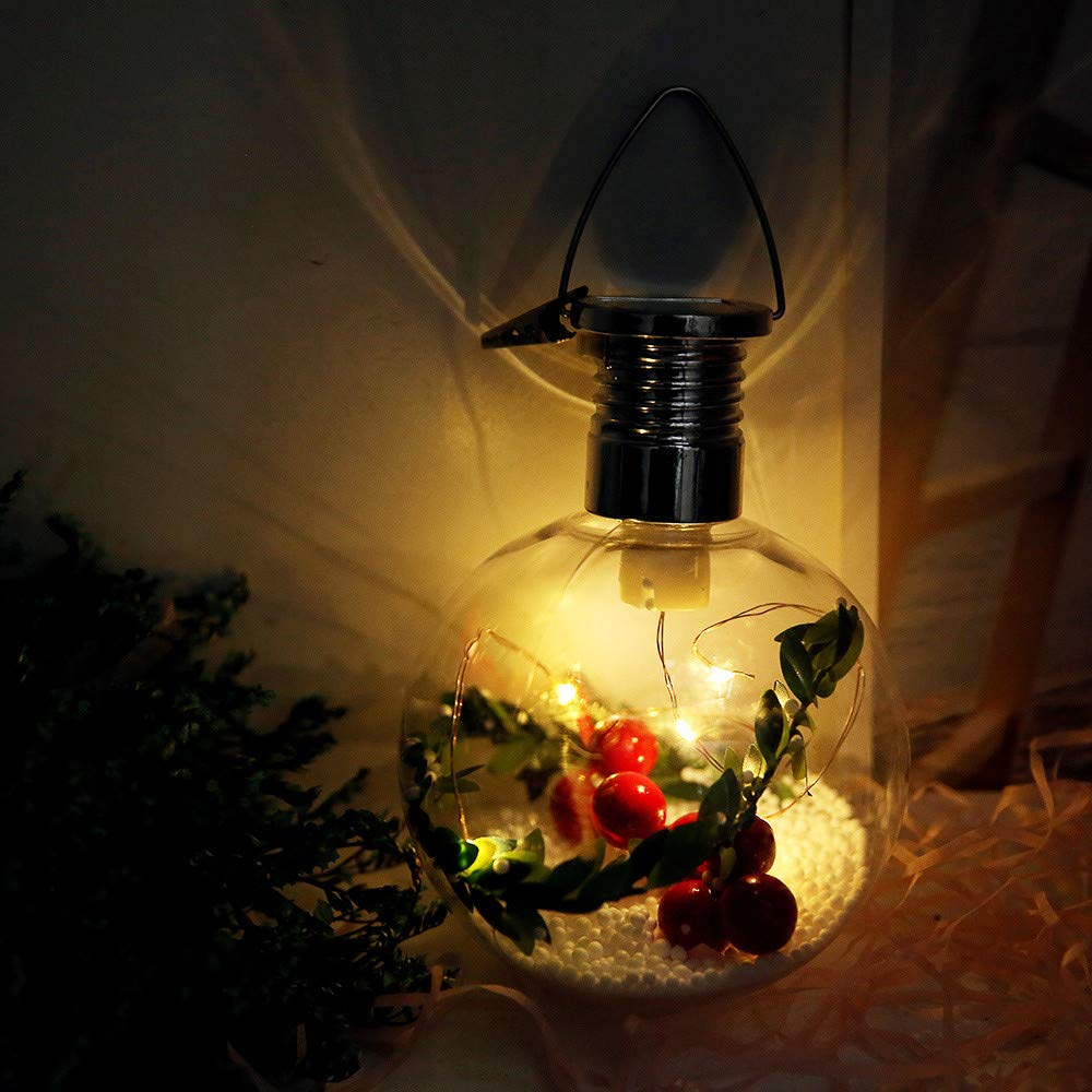 Nevera Outdoor String Lights LED Vintage Clear Globe Bulbs Fairy Lights Copper Wire Christmas (Multicolor A)