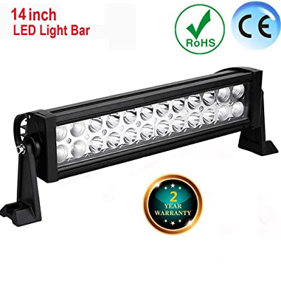 LED Light Bar 16 Inch 72W FSYF LED Work Lights Combo LED Driving Lights Jeep Off Road Lights Boat Lighting 2 Year Waranty 6000-6200k Waterproof For Suv Atv 4wd Truck Heavy Duty Vehicle (16 inch): Automotive