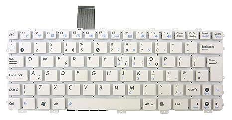 Nuevo diseño de UK teclado blanco sin Marco para Asus Eee PC 1016P 1016PT, 1018P
