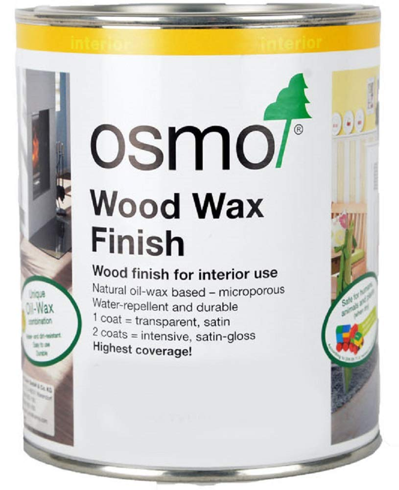 Osmo - Wood Wax Finish - 3111 White Transparent - 0.75 Liter by Wood Wax Finish