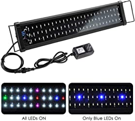 Yescom Multi-Color 78/129/156 LEDs Aquarium Light Freshwater Saltwater Fish Tank